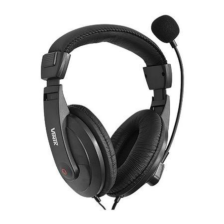 Headset Vinik Go Play FM35 com Microfone, P2, Preto - 20202