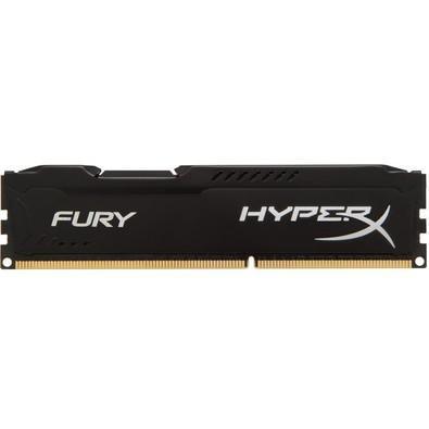 Memória HyperX Fury, 4GB, 1600MHz, DDR3, CL10, Preto - HX316C10FB/4