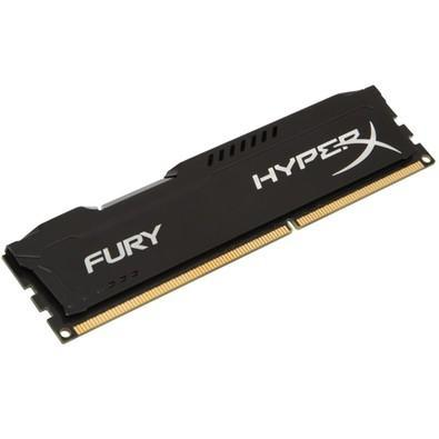 Memória Ram Hyperx Fury Black 4gb Ddr3 1600mhz Hx316c10fb/4 Kingston