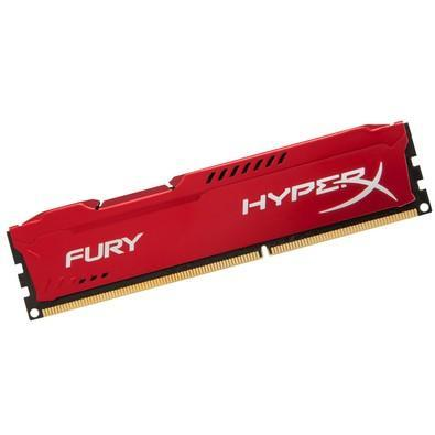 Memória Kingston HyperX FURY 8GB 1600Mhz DDR3 CL10 Red - HX316C10FR/8