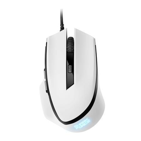 Mouse Sharkoon Gamer Shark Force 6 Botões 1600 DPI 4000 FPS Óptico Branco