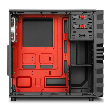 Gabinete Sharkoon ATX VG4-W Red