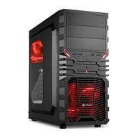 Gabinete Sharkoon ATX VG4-W Red