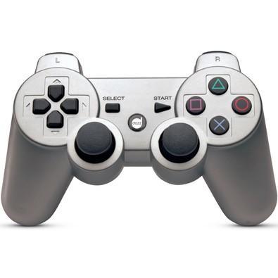Controle Dazz Dualshock Bluetooth PS3 Prata 621284