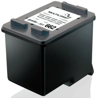 Cartucho de Tinta Multilaser  662XL Preto - CO662P