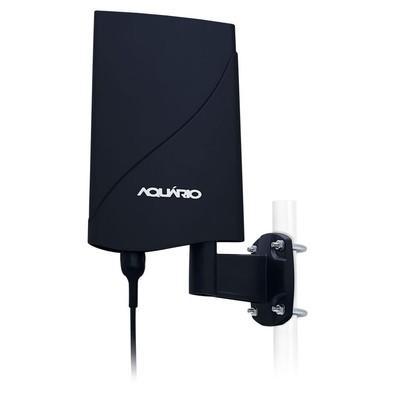 Aquario Antena Externa DTV-5600 Amplificada para TV 4 em 1 VHF UHF FM e HDTV Digital