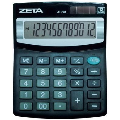 Calculadora Mesa ZETA, 12 dígitos, Preta ZT733