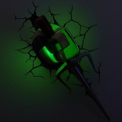Luminária De Parede Geek 3D Light Fx Arma do Raphael
