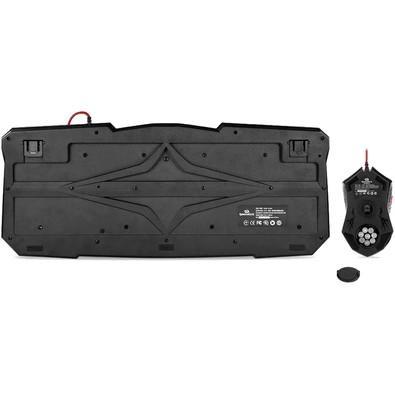 Kit Gamer Redragon - Teclado Vajra, LED + Mouse Centrophorus, LED - S101
