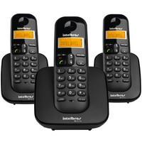 Telefone Intelbras sem fio digital com 2 Ramais Preto - TS 3113