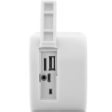 Caixa de Som Pulse Bluetooth Speaker 10W USB com Cartão Memória Branco - SP207