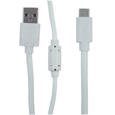 Cabo MD9 USB AM/Micro USB (V8) 1.5M Branco com Filtro - 7495