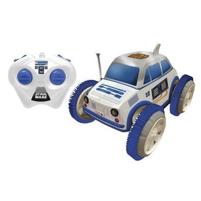 Carro de Controle Remoto Movido a Bateria Tumbling Azul e Branco 9155 Candide