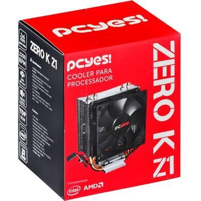 Cooler para Processador PCYES Zero K Z1 80mm sem LED AMD/Intel - ACZK180