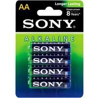 Pilha Alcalina Sony AA, Pack com 4 - AM3L-B4D