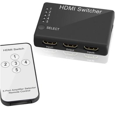 Chaveador MD9 HDMI Switch 5x1 V 1.4 7265