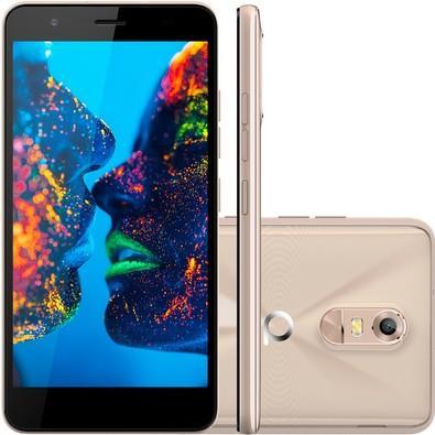 Smartphone Quantum MUV Pro Mirage Gold, Octa Core, Android 6.0, Tela 5.5´, 16GB, 16MP, 4G, Dual Chip, Desbl - Dourado