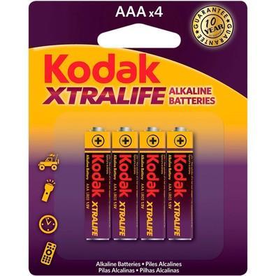 Pilha Alcalina Aaa Xtralife Lr03 1,5v C/ 4 Unid Kodak