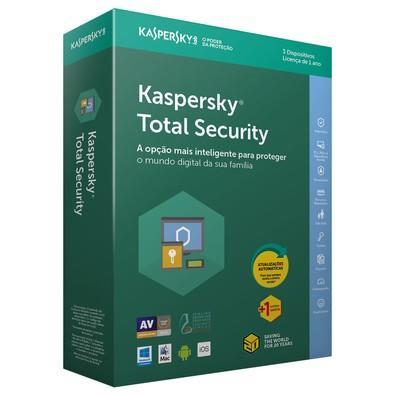 Kaspersky Antivírus Total Security 2018 Multidispositivos 3 PCs