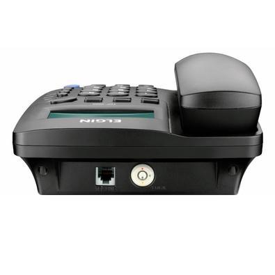 Telefone Elgin Com fio c/ Identificador de Chamadas TCF-3000 Preto