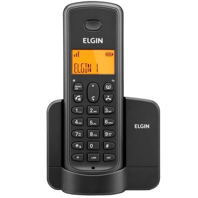 Telefone Elgin ID, Viva Voz, Localizador de Monofone, Display Iluminado e Agenda Compartilhada TSF 8001 Preto