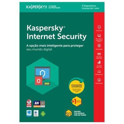 Kaspersky Internet Security 2018 Multidispositivos 3 PCs - Digital para Download