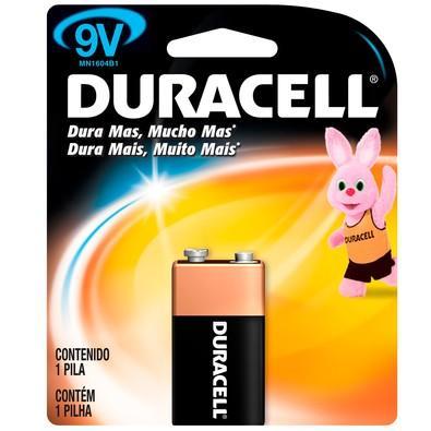 Bateria Duracell 9V c/ 1 Unidade - MN1604