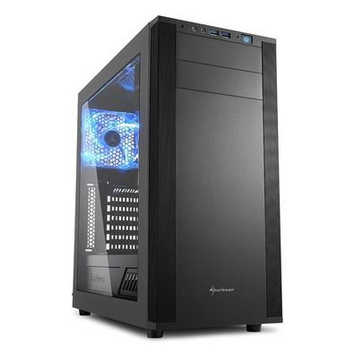 Gabinete ATX Sharkoon Som Virtual 7.1 Integrado, USB 3.0, Preto - M25-W