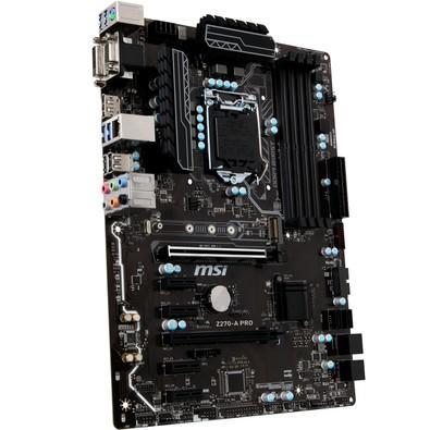Placa-Mãe MSI p/ Intel LGA 1151 ATX Z270-A PRO DDR4