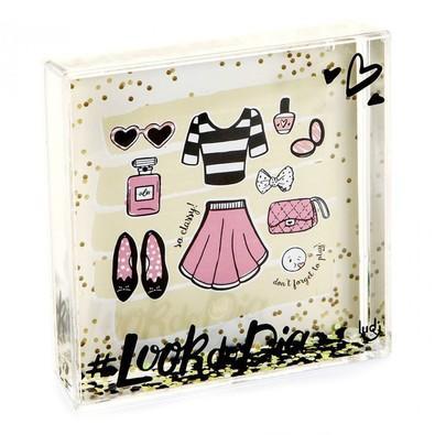 Porta Retrato Ludi com Glitter Blog LY0446