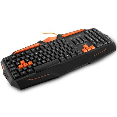 Teclado Gamer Multilaser ABNT2, Laranja- TC211