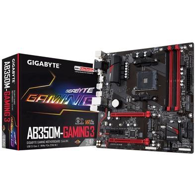 Placa-Mãe Gigabyte GA-AB350M-Gaming 3, AMD AM4, mATX, DDR4