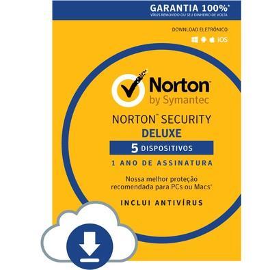 Norton Security 5 Dispositivos 12 Meses - Digital para download