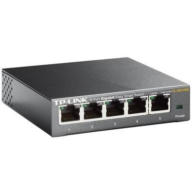 Switch TP-Link Gigabit com 5 Portas Easy Smart - TL-SG105E