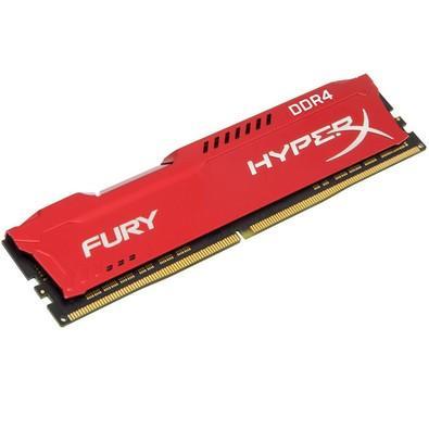 Memória HyperX Fury, 8GB, 2400MHz, DDR4, CL15, Vermelho - HX424C15FR2/8