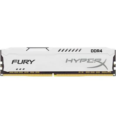 Memória Kingston HyperX FURY 8GB 2666Mhz DDR4 CL16 White - HX426C16FW2/8
