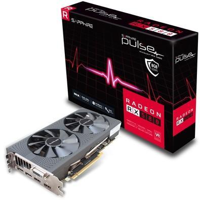 Placa de Video VGA Sapphire AMD Radeon RX 580 PULSE 8GB GDDR5 PCI-E Dual HDMI/DVI-D/Dual DP OC w/backplate - 11265-05-20G