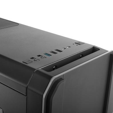 Gabinete NOX HUMMER MC ATX, USB 3.0, 2 FANS Inclusos, Iluminação de LED  NXHUMMERMCB