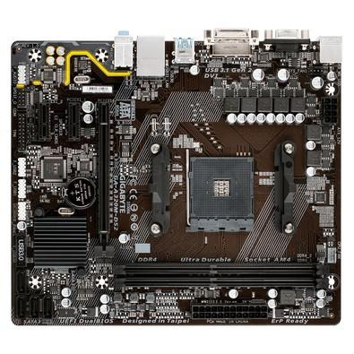 Placa-Mãe GIGABYTE p/ AMD AM4 mATX GA-A320M-DS2 DDR4