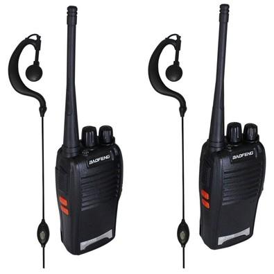Walk Talk Baofeng Kit Radio Comunicador 16 Canais 4KM 777s Preto