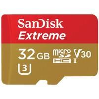 Cartão SanDisk Micro SD 32GB Extreme Classe 10 Vel. até 100MB/s a Prova de Água p/ Câmera de ação 4K e Full HD SDSQXAF-032G-GN6AA