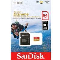 Cartão SanDisk Micro SD 64GB Extreme Classe 10 Vel. até 100MB/s a Prova de Água p/ Câmera de Ação 4K e Full HD SDSQXAF-064G-GN6AA