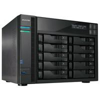 Storage Asustor NAS Intel Celeron 1.6GHz Quad-Core 4GB DDR3 Torre 10 Baias Sem Disco - AS6210T