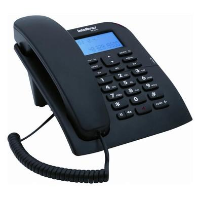 Telefone Intelbras com Fio TC60ID Preto