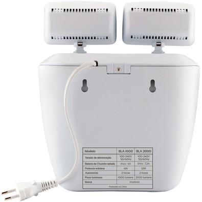 Iluminação de Emergência Engesul 2000 Lumens 2 Faróis LED BLA 2000 Cinza Ártico 4635200