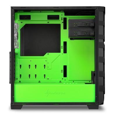 Gabinete Sharkoon SKILLER SGC1 Window - Green