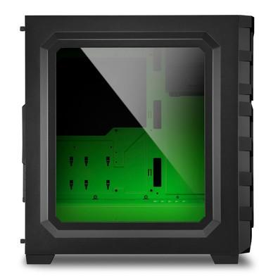Gabinete Sharkoon SKILLER SGC1 Window - Green