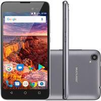 Smartphone Multilaser MS50L, 8GB, 8MP, Tela 5´, Preto e Grafite + Capa e Película - P9051