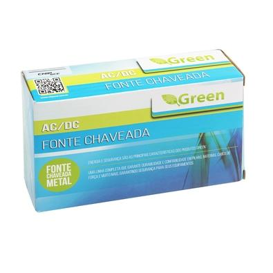 Fonte Chaveada Green 12V 5A 60W Bivolt - Gabinete Metálico 044-0060
