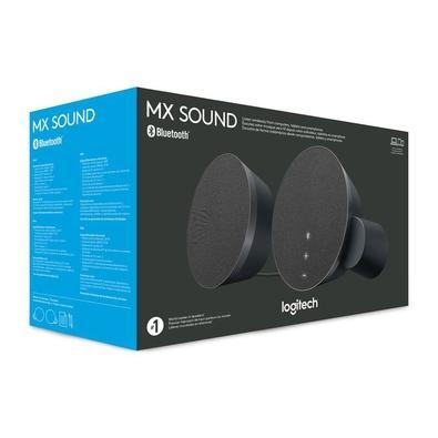 Caixa de Som Logitech MX Sound 2.0 com Conexão 3,5mm ou Bluetooth Multi-Device 2x12W RMS